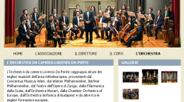 Home page dell'orchestra